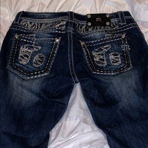 Miss me zebra jeans